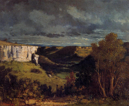 The Valley Of The Loue In Stormy Weather By Gustave Courbet By Gustave Courbet