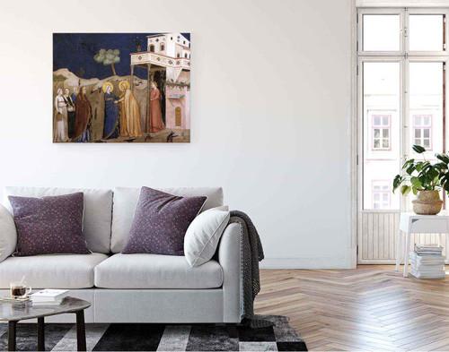 The Visitation  By Giotto Di Bondone By Giotto Di Bondone