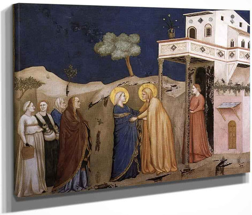 The Visitation  By Giotto Di Bondone By Giotto Di Bondone