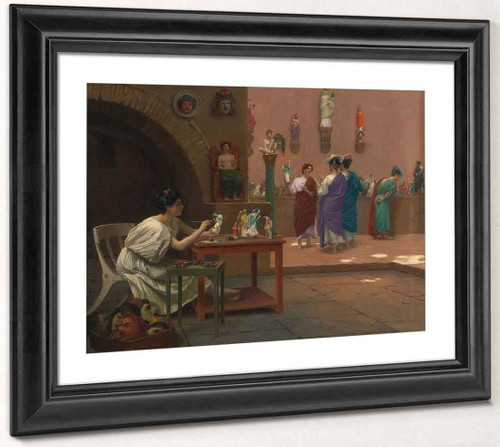 The Workshop Of Tanagra By Jean Leon Gerome  By Jean Leon Gerome