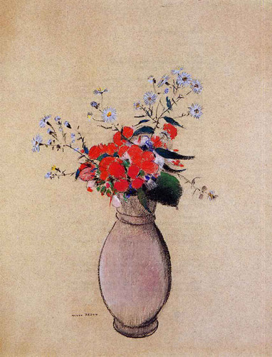 Bouquet Of Flowers4 By Odilon Redon