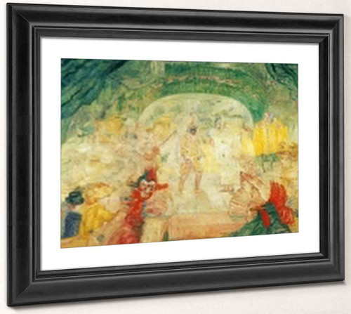 Theater Of Masks By James Ensor By James Ensor