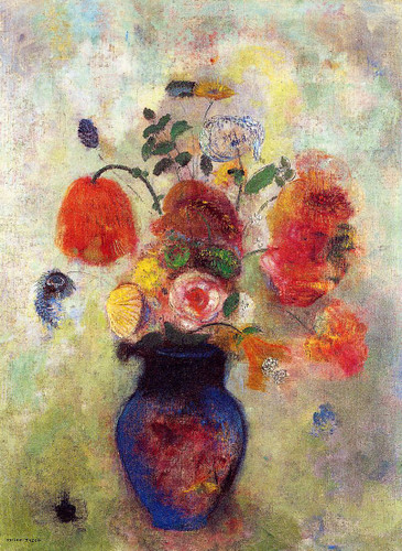 Bouquet Of Flowers7 By Odilon Redon