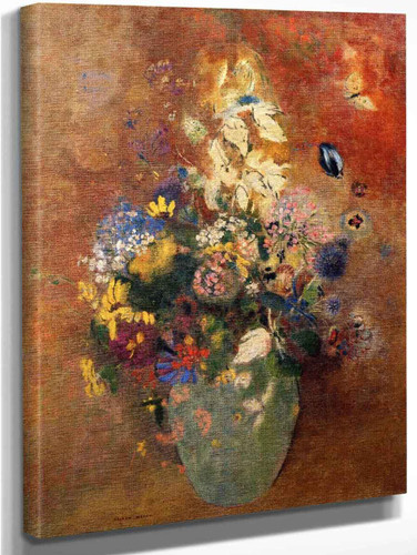 Bouquet Of Flowers8 By Odilon Redon