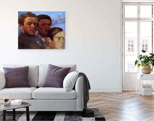 Three Heads By Edgar Degas By Edgar Degas