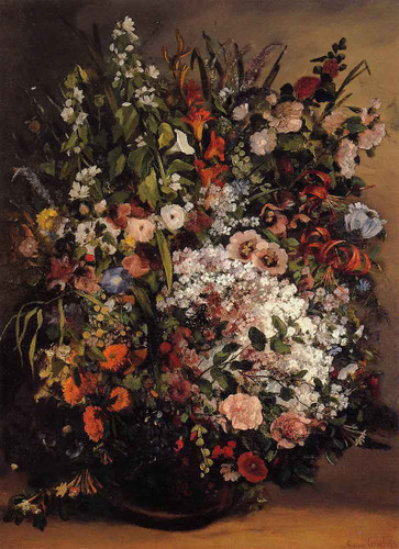 Bouquet Of Flowers By Gustave Courbet