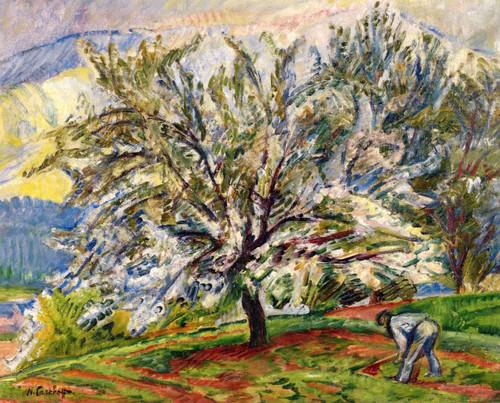 Tree In Spring By Nicolas Tarkhoff