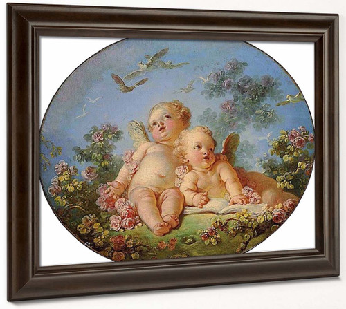 Two Cupids By Jean Honore Fragonard  By Jean Honore Fragonard