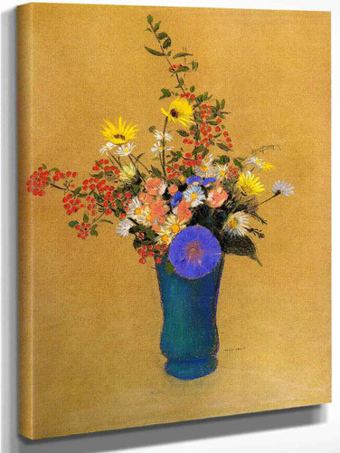 Bouquet Of Wild Flowers1 By Odilon Redon