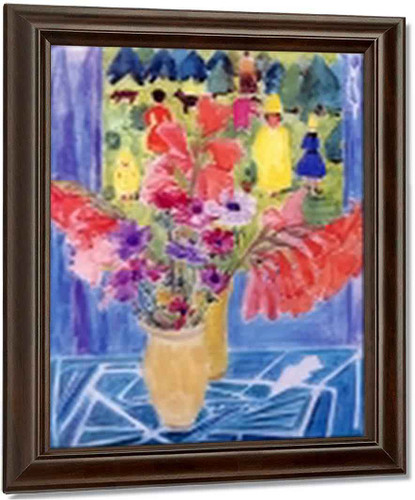 Bouquet By Erich Heckel Oil on Canvas Reproduction
