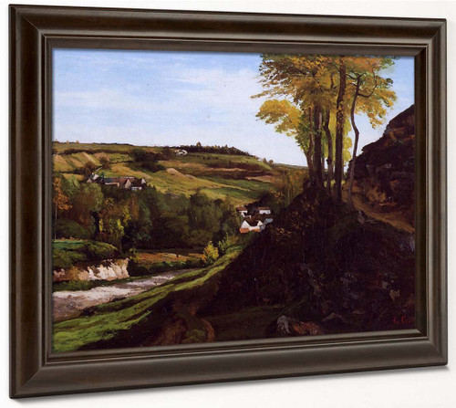 Valley Of Ornans By Gustave Courbet By Gustave Courbet