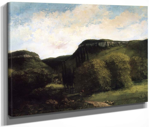 Valley Of The Loue, Near Ornans By Gustave Courbet By Gustave Courbet