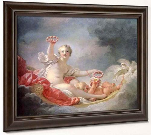 Venus Crowning Cupid  By Jean Honore Fragonard  By Jean Honore Fragonard