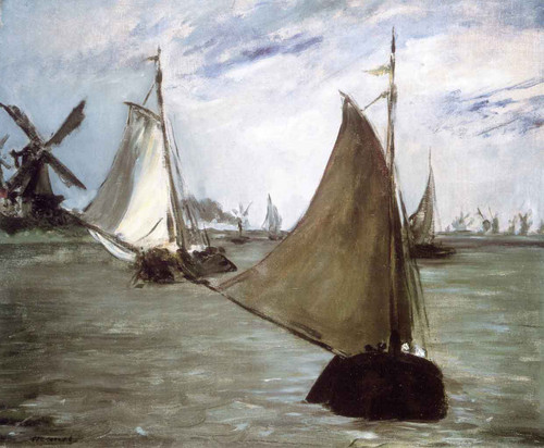 View In Holland By Edouard Manet By Edouard Manet