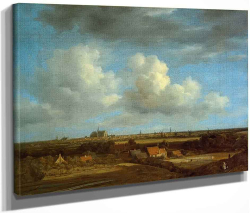 View Of Haalem From The North West By Jacob Van Ruisdael