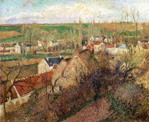 View Of Osny Near Pontoise By Camille Pissarro By Camille Pissarro