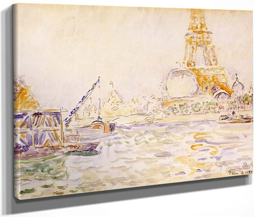 View Of Paris With The Eiffel Tower By Paul Signac