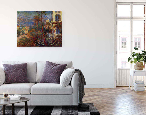 Villas At Bordighera By Claude Oscar Monet