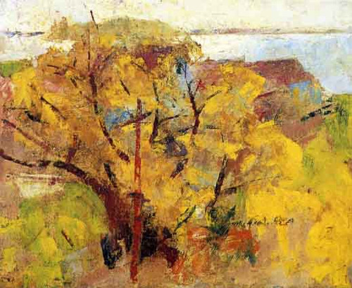 Willows By Charles W. Hawthorne