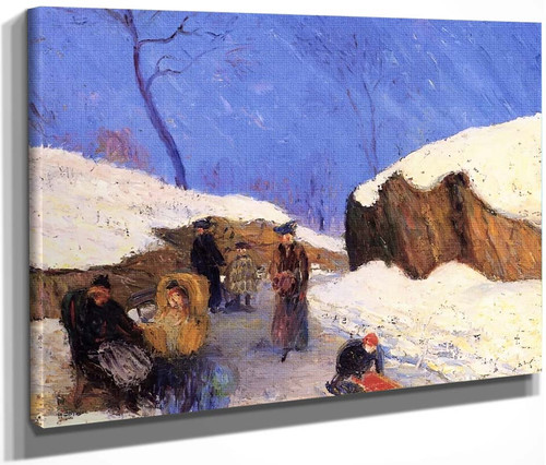 Winter In The Park By William James Glackens  By William James Glackens