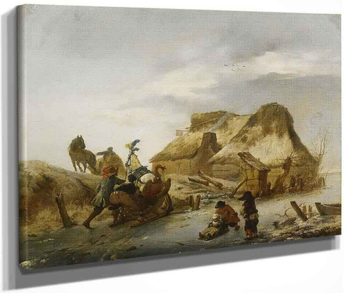 Winter Landscape By Philips Wouwerman Dutch 1619 1668