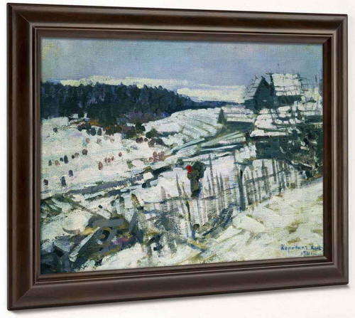 Winter1 By Constantin Alexeevich Korovin By Constantin Alexeevich Korovin