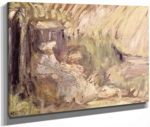 Woman And Girl In A Landscape By Edouard Vuillard