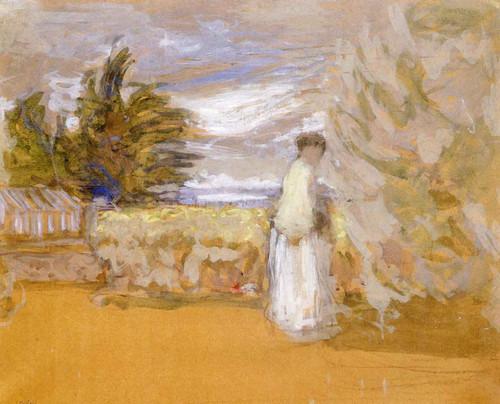 Woman In A Garden By Edouard Vuillard