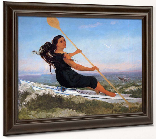 Woman In A Podoscaphe By Gustave Courbet By Gustave Courbet