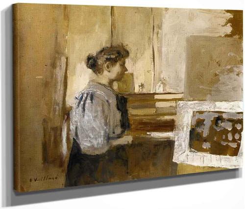 Woman In The Studio By Edouard Vuillard