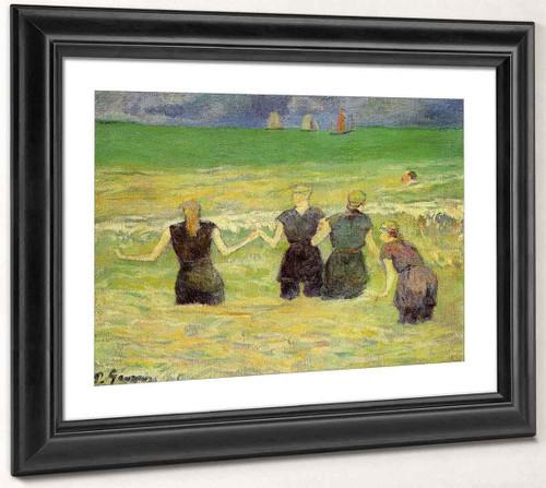 Women Bathing, Dieppe By Paul Gauguin  By Paul Gauguin