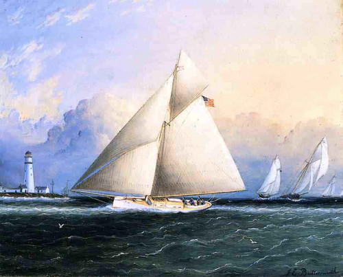 Yacht Race1 By James E. Buttersworth By James E. Buttersworth
