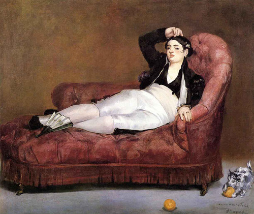 Young Woman Reclining By Edouard Manet By Edouard Manet