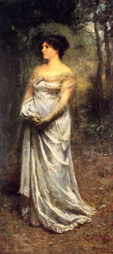 A Lady In Grey By Frederick Mccubbin