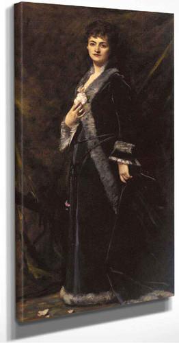 A Portrait Of Helena Modjeska Chlapowski By Charles Auguste Emile Carolus Duran