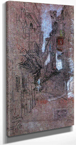 A Street In Venice By James Abbott Mcneill Whistler American