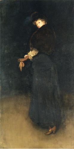 Arrangement In Black  La Dame Au Brodequin Jaune  Portrait Of Lady Archibald Campbell By James Abbott Mcneill Whistler American