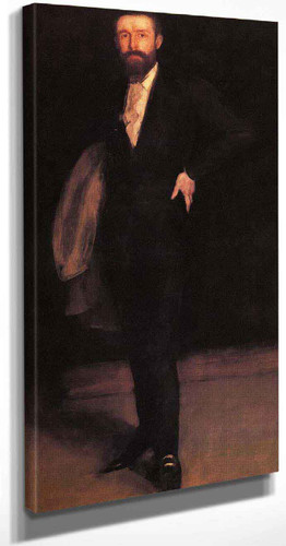 Arrangement In Black Portrait Of F. R. Leland By James Abbott Mcneill Whistler American