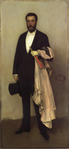 Arrangement In Flesh Colour And Black Portrait Of Theodore Duret By James Abbott Mcneill Whistler American