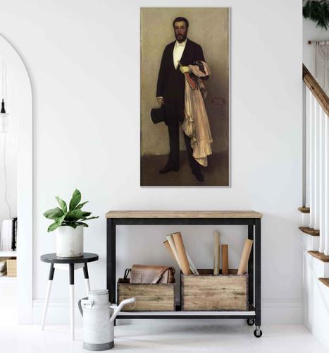 Arrangement In Flesh Colour And Black Portrait Of Theodore Duret By James Abbott Mcneill Whistler American