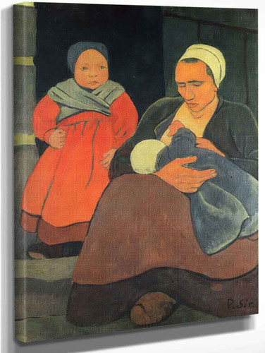 Bretonne Allaitant By Paul Serusier