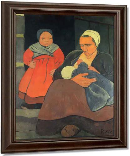 Bretonne Allaitant By Paul Serusier Oil on Canvas Reproduction