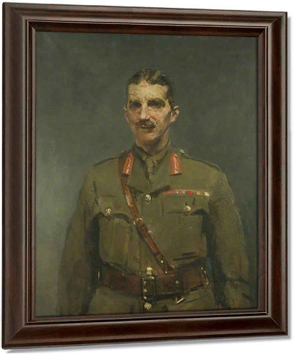 Brigadier General A. R. H. Hutchinson By Ambrose Mcevoy Oil on Canvas Reproduction
