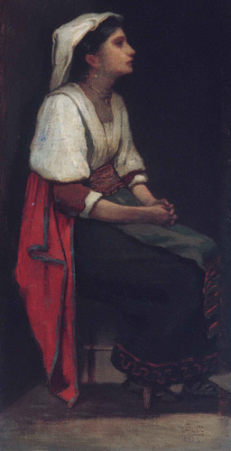 Italian Girl By William Morris Hunt