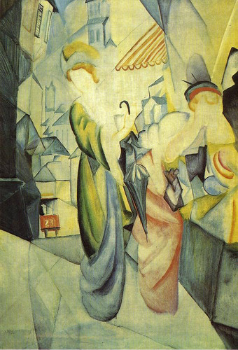 Bright Women In Front Of The Hat Shop By August Macke