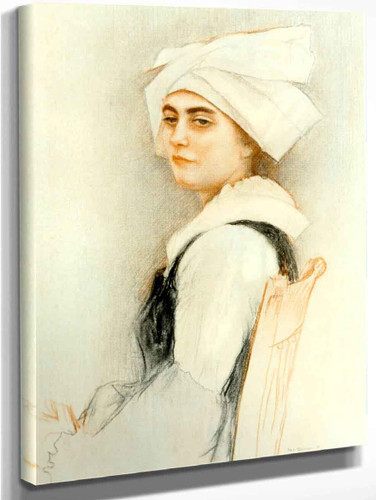 Brittany Woman By Pascal Dagnan Bouveret