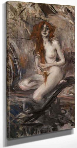Nude By Giovanni Boldini By Giovanni Boldini