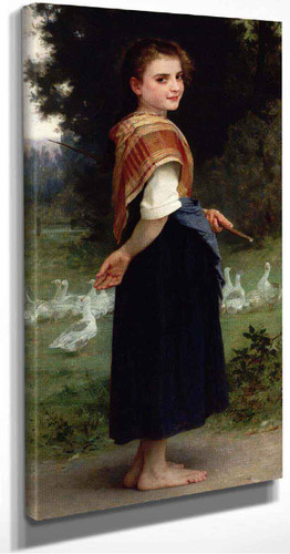 The Goose Girl By William Bouguereau