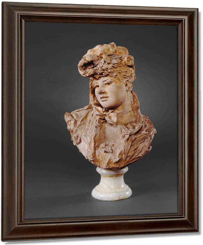 Bust Of A Woman By Auguste Rodin Oil on Canvas Reproduction