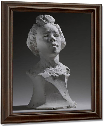 Bust Of Haneko By Auguste Rodin Oil on Canvas Reproduction